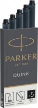 , Inktpatroon Parker Quink permanent zwart