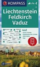 , KOMPASS Wanderkarte Liechstenstein, Feldkirch, Vaduz 1:50 000