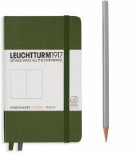 Lt348099 , Leuchtturm notitieboek pocket 90x150 dots / bullets legergroen