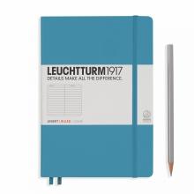 Lt354584 , Leuchtturm notitieboek medium 145x210 lijn nordic blauw