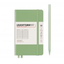 , Leuchtturm notitieboek pocket 90x150 lijn sage