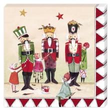 , Kerstservetten 3 notenkrakers- 33x33cm