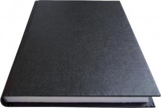 , Schrift met harde kaft A5 400blz lijn zwart