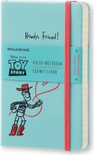, Moleskine LE Notitieboek Toy Story Pocket (9x14 cm) Gelinieerd Lichtblauw