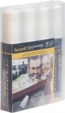 , Krijtstift Securit SMA-720 blok wit 7-15mm blister à 4st
