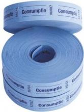 , Consumptiebon Combicraft 57x30mm 2-zijdig 2x1000 stuks blauw