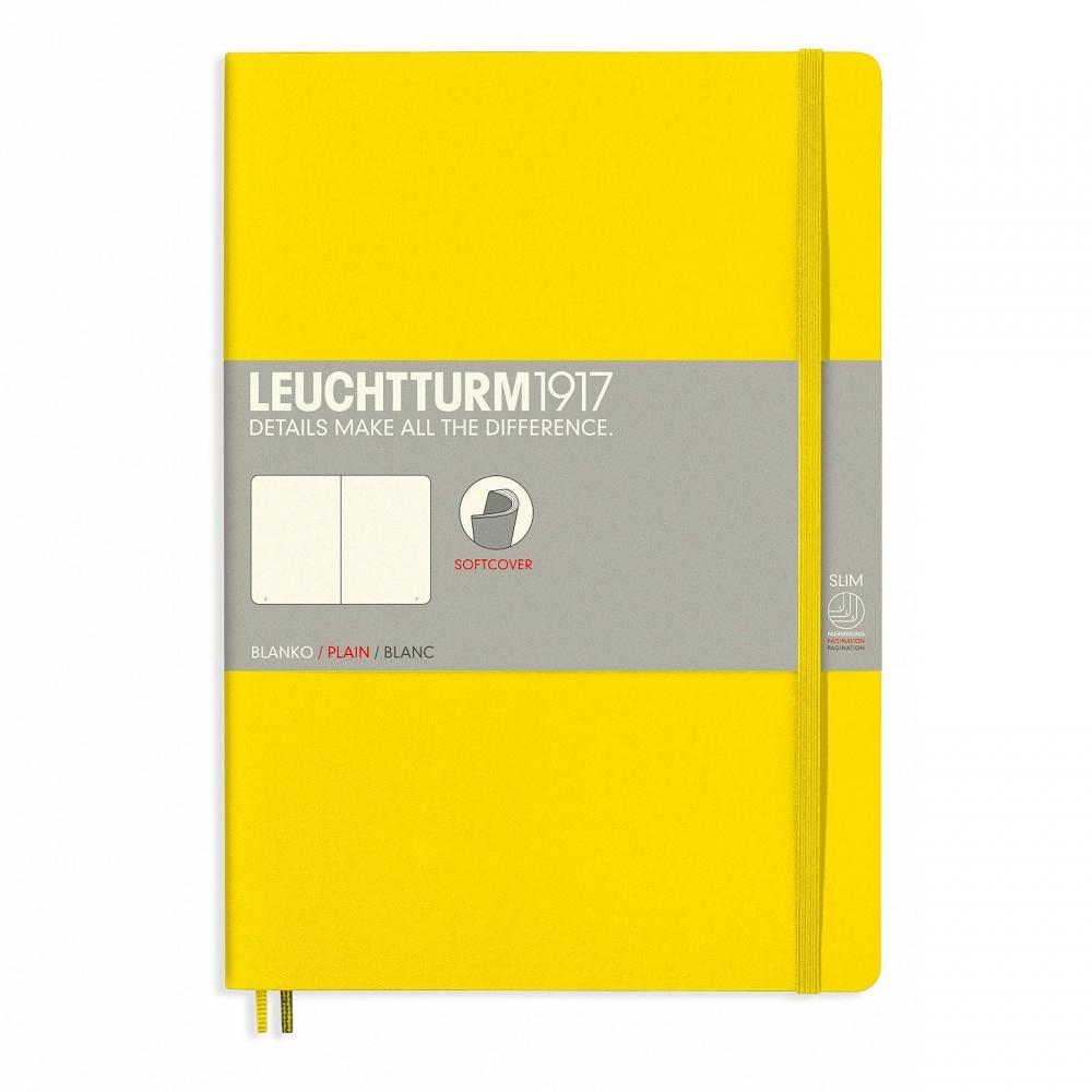 Lt355287,Leuchtturm notitieboek composition softcover 178x254 mm blanco lemon geel