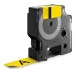 , Labeltape Dymo Rhino 18432 12mmx5.5m vinyl zwart op geel