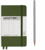 <b>Lt348099</b>,Leuchtturm notitieboek pocket 90x150 dots / bullets legergroen