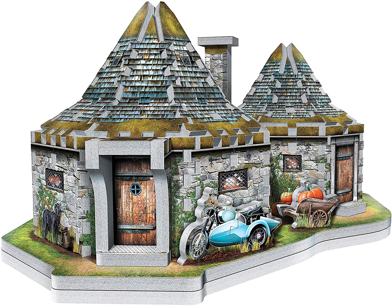 W3d-0512,Puzzel 3d - hagrid`s hut- harry potter - wrebbit  270 stuks