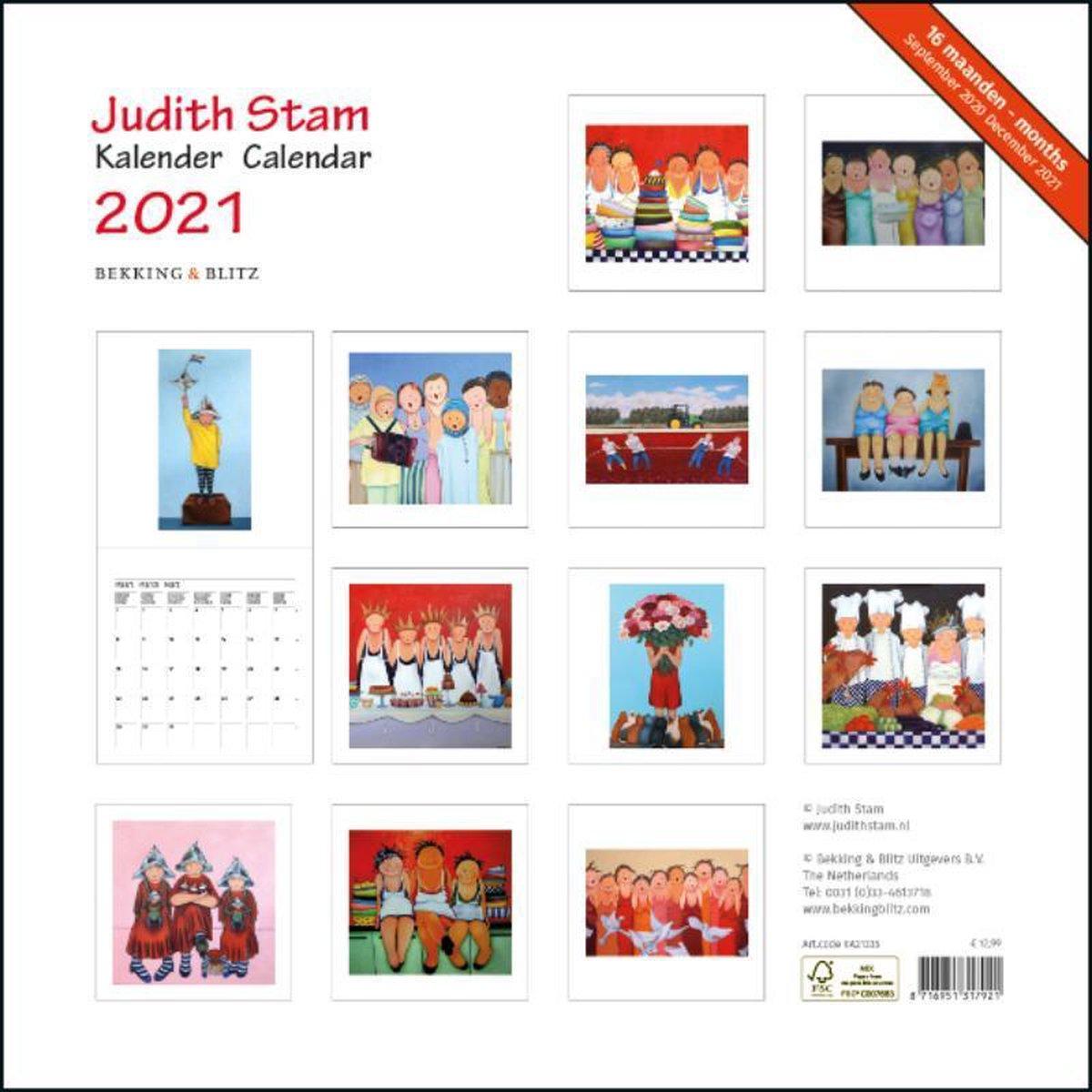 ,Judith Stam maandkalender 2021