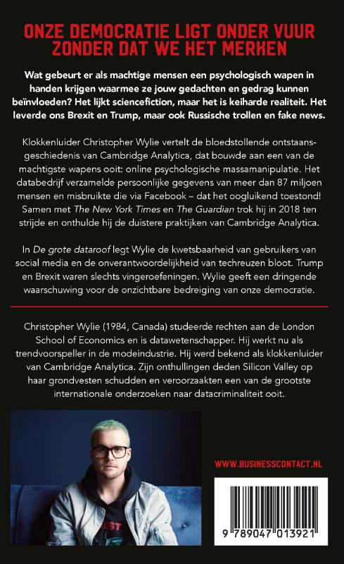 Christopher Wylie,De grote dataroof