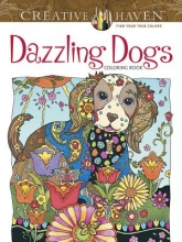 Sarnat, Marjorie Creative Haven Dazzling Dogs Coloring Book