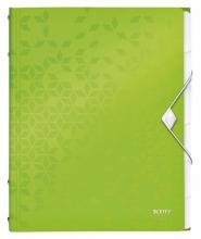 , Sorteermap Leitz WOW 6-delig PP groen