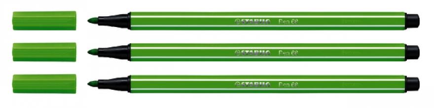 , Viltstift STABILO Pen 68/33 lichtgroen