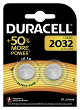 , Batterij Duracell knoopcel 2xCR2032 lithium Ø20mm 3V-180mAh