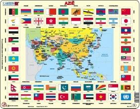 , Larsen puzzel- Vlaggen Azie- KL2