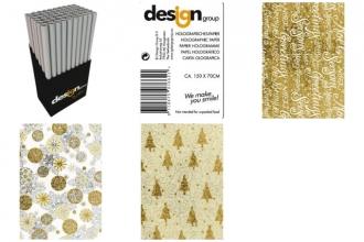 , Inpakpapier ig design kerst sparkle 150x70cm ass