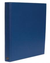 , Ringband Multo Hannibal A4 23-rings O-mech 32mm lederlook blauw