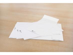 , envelop Raadhuis Securitex C4229x324x38mm venster links wit doos met 100 stuks