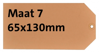 , Label karton nr7 200gr 65x130mm chamois 1000stuks
