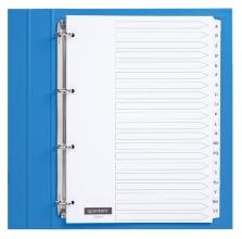 , Tabbladen Quantore 4-gaats 20-delig met alfabet wit karton