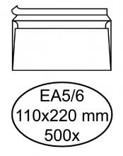 , Envelop Hermes bank EA5/6 110x220mm zelfklevend wit 500stuks