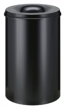 , Papierbak met vlamdover Vepabins 110liter 45cm zwart