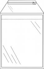 , Envelop CleverPack akte A4 220x300mm zelfkl. transp. 50stuks