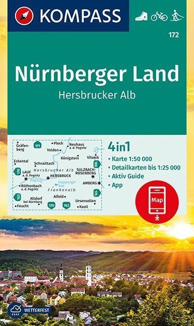 ,Nürnberger Land, Hersbrucker Alb 1:50 000