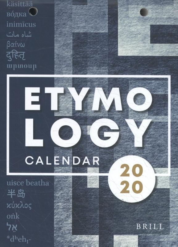 ,Etymological Calendar 2020