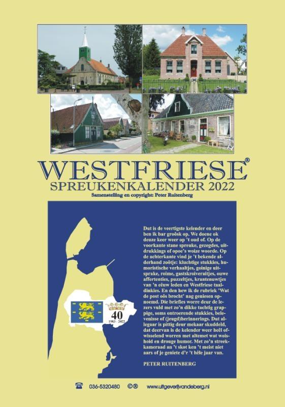,Westfriese spreukenkalender 2022