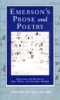 Emerson, Ralph Waldo,Emerson`s Poetry and Prose