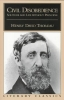 Thoreau, Henry David,Civil Disobedience Solitude and Life