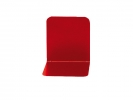 ,boekensteun Alco 130x140x140mm metaal 2 stuks in doos rood