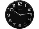 ,Wandklok NeXtime dia. 50 cm, glas, zwart, `Classy Large`