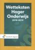 ,Wetteksten Hoger Onderwijs 2018-2019