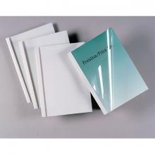, Thermische omslag GBC A4 3mm transparant/wit 100stuks