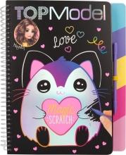 0011129 a , Topmodel magic-scratch book