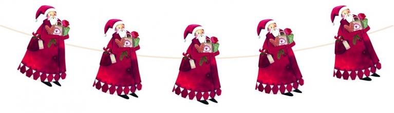 , Kerstslinger met kerstman