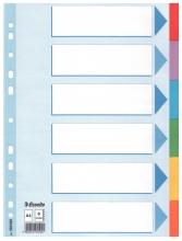 , Tabbladen Esselte A4 11R karton 6-delig met voorblad