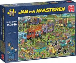 Jum-20042 , Puzzel jumbo food truck festival jan van haasteren 1500 stukjes 90x60cm