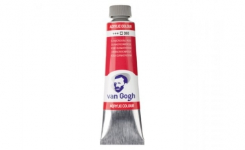 , Talens van gogh acrylverf tube 40 ml quinacr.rose 366