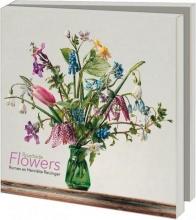 Wmc1031 , Notecards 10 stuks 15x15 roadside flowers roman en henriette reisinger