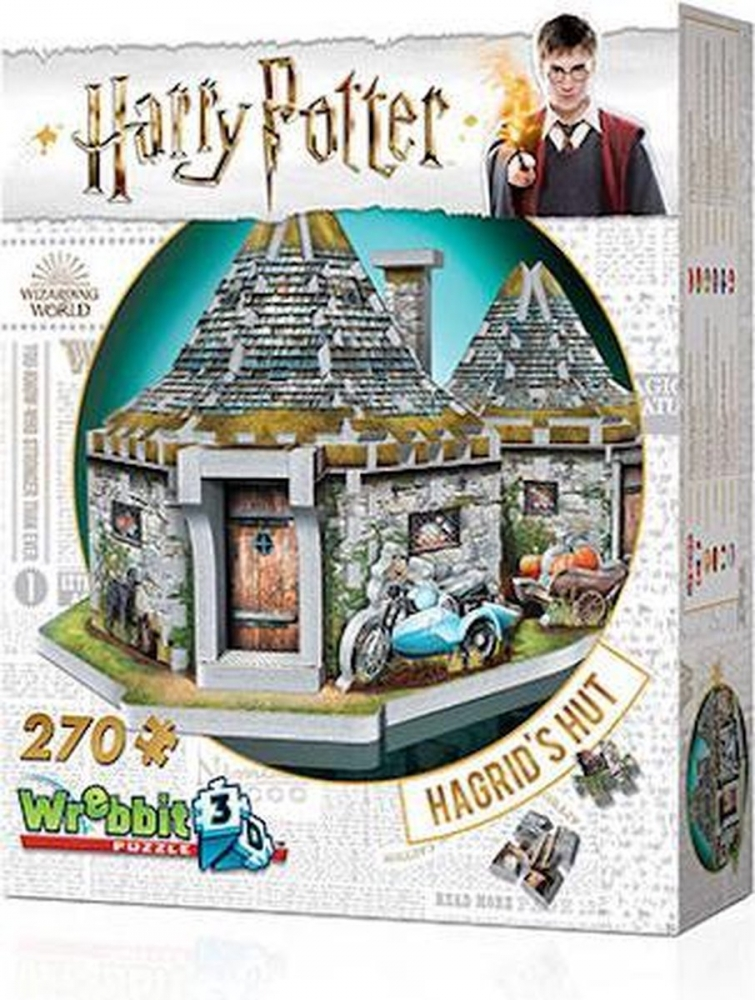 W3d-0512,Puzzel 3d - hagrid`s hut- harry potter - wrebbit  270 stuks