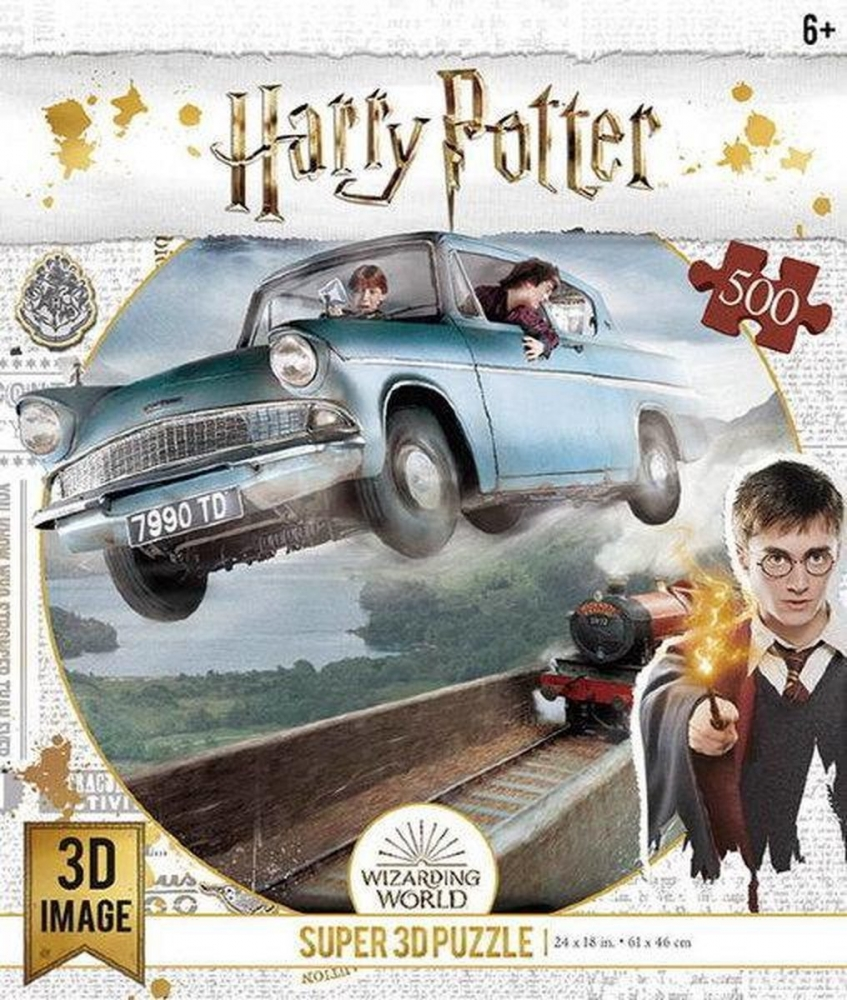 ,3d image puzzel- harry potter ford anglia 500 stuks