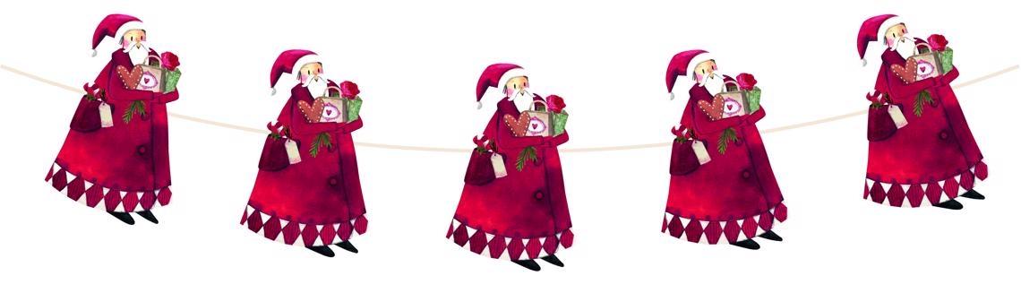 ,Kerstslinger met kerstman