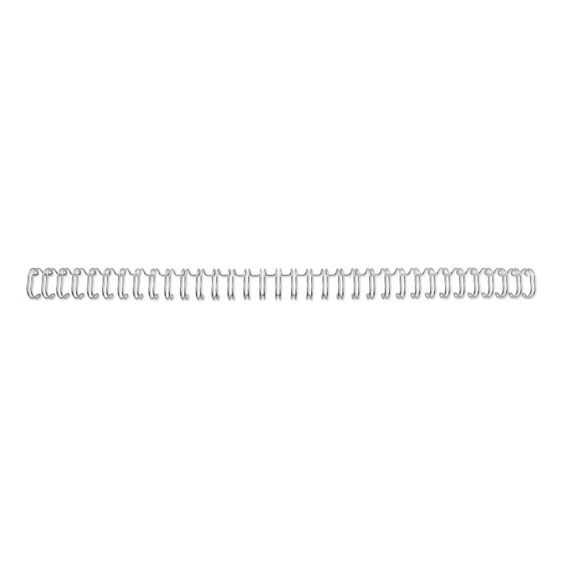 ,Draadrug GBC 14.3mm 34-rings A4 zilver 100stuks