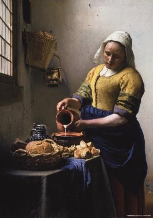 Puz-382,Puzzel keukenmeid - vermeer  - puzzelman - 1000 - rijksmuseum