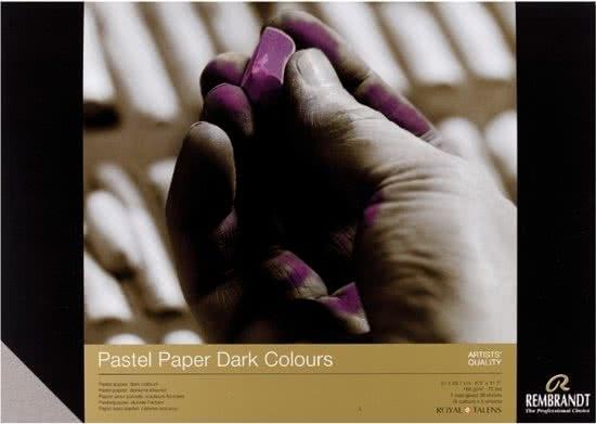 ,Talens pastelpapier blok  a4 donkere kleuren